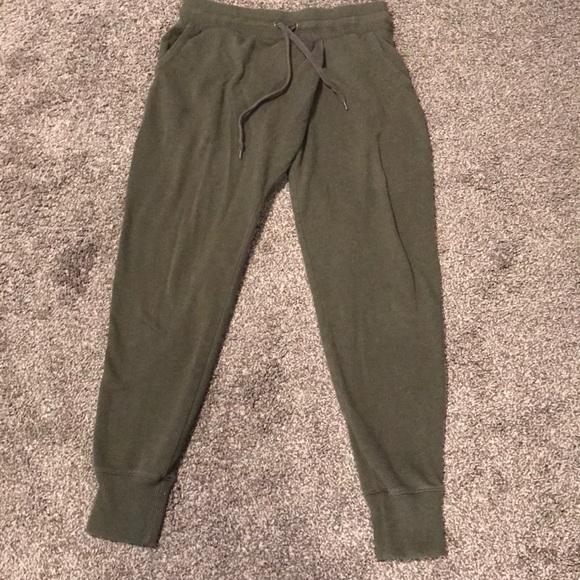 Aerie Pants Womens Joggers Olive Green Medium Poshmark